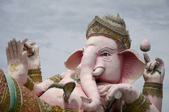 Ganesh statue pink color thai called Phra Pikanet at outdoor for people visit and respect praying at Lord Ganesha Park Stock Photography
