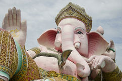 Ganesh statue pink color thai called Phra Pikanet at outdoor for people visit and respect praying at Lord Ganesha Park Royalty Free Stock Images