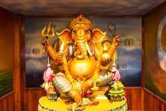 Ganesh. Statue in sitting action with many decoration Royalty Free Stock Images