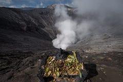 Ganesh statue volcano cliff Stock Photo