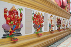 Son of Siva. Ganesh statues in various postures in Thailand royalty free stock photography