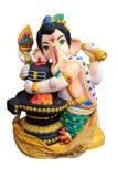 Ganesh staty i isolat med den cliping banan Fotografering för Bildbyråer