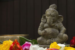 Ganesh stone statue Royalty Free Stock Images