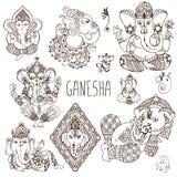 Ganesh w mehendi stylu Obrazy Royalty Free