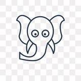 Ganesha在透明背景,线性G的传染媒介象 皇族释放例证