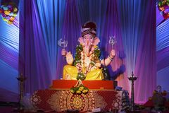 Ganesha, Ganesh节日,浦那,印度阁下 库存图片