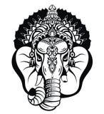 Ganesha Λόρδου Απεικόνιση του υποβάθρου Λόρδου Ganpati για το φεστιβάλ Ganesh Chaturthi της Ινδίας ελεύθερη απεικόνιση δικαιώματος