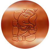 Ganesha - μεταλλικό σχέδιο χαλκού Στοκ εικόνες με δικαίωμα ελεύθερης χρήσης