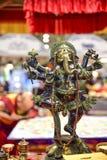 Ganesha, индусское божество с хоботком и 4 оружиями Стоковое Изображение RF