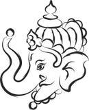 Ganesha лорд Премудрость иллюстрация вектора
