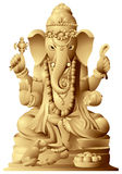 Ganesha. Statue of Indian hindu god with elephant head. The Remover of Obstacles, the Lord of Beginnings and The Lord of Obstacles, patron of arts and sciences Royalty Free Stock Images