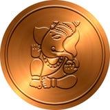 Μεταλλικό νόμισμα Ganesha Στοκ φωτογραφία με δικαίωμα ελεύθερης χρήσης
