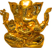 金黄Ganesha 免版税库存图片