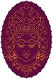 Ganesha. Durga Indian Goddess ornamental design Stock Images