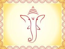 Ganesha abstrakcjonistyczna tapeta Zdjęcia Royalty Free