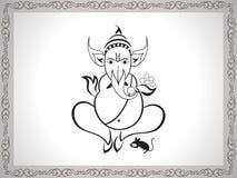 Ganesha abstrakcjonistyczny nakreślenie Obrazy Stock