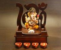 Ganesha bij Diwali-Festival stock afbeeldingen