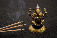 Ganesha on black background. Close up photo stock images