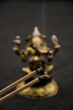 Ganesha on black background. Close up photo royalty free stock photo