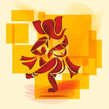 Ganesha dance. Royalty Free Stock Image