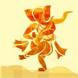 Ganesha dans stock illustrationer