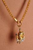 Ganesha de cadena del señor del oro Imagenes de archivo