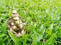 Ganesha de cobre amarillo Foto de archivo libre de regalías