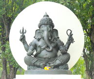 Ganesha, de Hindoese god van wijsheid Stock Foto