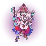 Ganesha de pierre Illustration tirée par la main de vecteur Image libre de droits