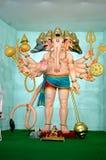 Ganesha in der Rolle von panchmukhi Hanuman Stockbild
