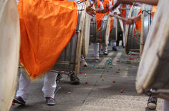 Ganesha Dhol Procession Royalty Free Stock Photo