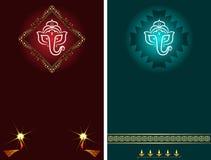 Ganesha Diwali Greeting. Ganesha Diwali Festival Greeting Card Design royalty free illustration