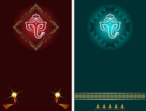 Ganesha Diwali hälsning Royaltyfria Foton