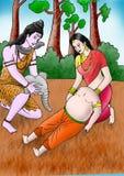 Ganesha dostaje jego słoń głowę zdjęcie royalty free