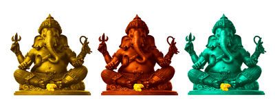 Ganesha, God of Hindu. Colorful Ganesha, God of Hindu Stock Photo