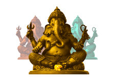 Ganesha, God of Hindu. Golden Ganesha, God of Hindu Royalty Free Stock Image