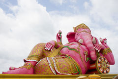 Ganesha god of success. Chachoengsao, Thailand - October 20, 2016: Large Ganesha, Hindu God in Thailand, Son of Shiva God, Wat Saman Temple royalty free stock image
