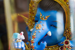 Ganesha god of success. Chachoengsao, Thailand - October 20, 2016: Large Ganesha, Hindu God in Thailand, Son of Shiva God, Wat Saman Temple stock images
