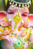 Ganesha god of success. Chachoengsao, Thailand - October 20, 2016: Large Ganesha, Hindu God in Thailand, Son of Shiva God, Wat Saman Temple stock photo