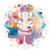 Ganesha god vector Royalty Free Stock Images