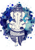 Ganesha god vector Royalty Free Stock Image