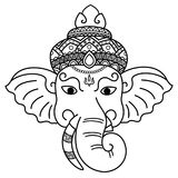 Ganesha is a god of wisdom. Stock Photo