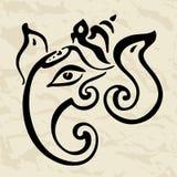 Ganesha Hand drawn illustration. Stock Image