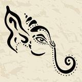 Ganesha Hand drawn illustration. Stock Images
