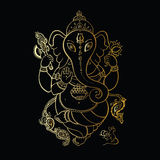 Ganesha Hand drawn illustration. Royalty Free Stock Images