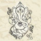 Ganesha Hand drawn illustration. Stock Photography