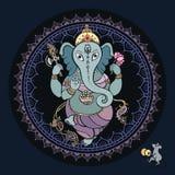 Ganesha Hand drawn illustration. Stock Photos