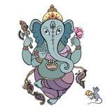 Ganesha Hand drawn illustration. Royalty Free Stock Image