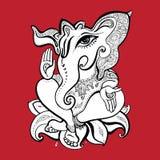 Ganesha Hand drawn illustration. Royalty Free Stock Photography