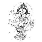 Ganesha. Hand drawn illustrations of Ganesha royalty free illustration